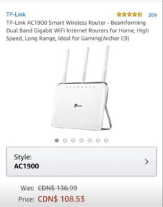 NEW In Box TP-Link AC1900 Smart Wireless Router