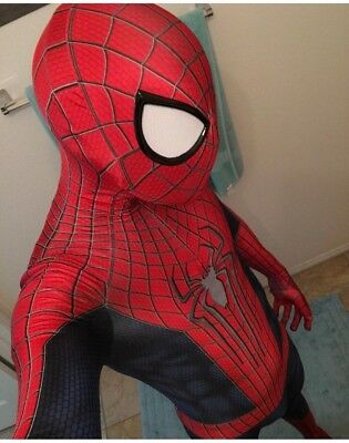 The Amazing Spider Man 2 Halloween Costume (The Amazing Spider-man TASM2 Cosplay Costume Spiderman Zentai Suit Halloween)