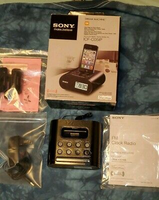 Used 1x Sony Dream Machine Alarm Clock Radio for iPhone/iPod - ICF-C05IP, Black