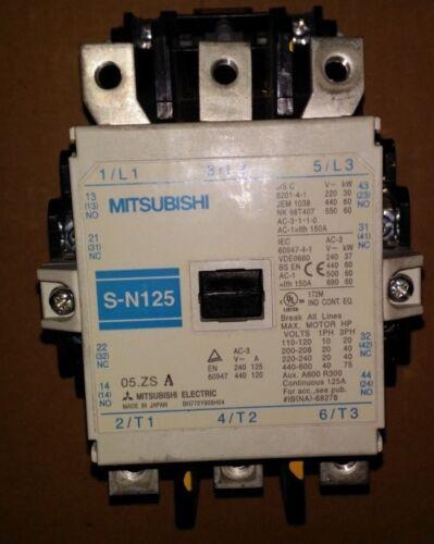 Mitsubishi Electric Mitsubishi S-N125 Contactor (200-240V Coil)