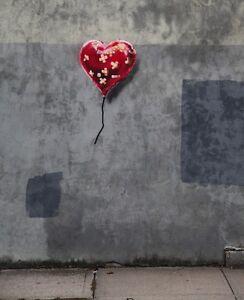 BANKSY Canvas Print - Wall Art - NEW YORK HEART BALLOON - 20 x 14 inch