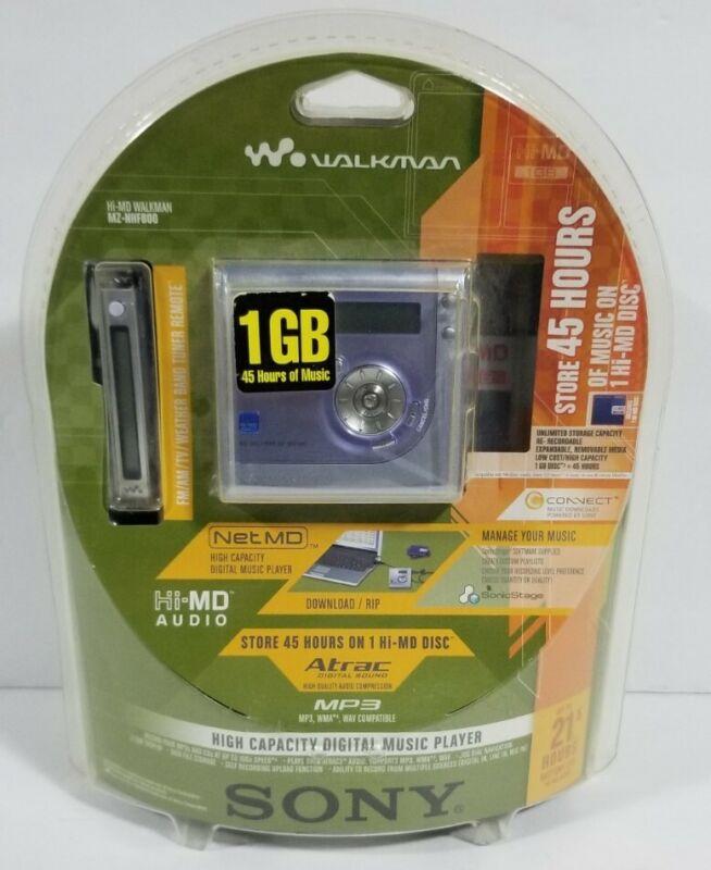 Sony MZ-NHF800 Hi-MD Mini Disc Recordable Walkman 1GB W/ Remote BRAND NEW SEALED