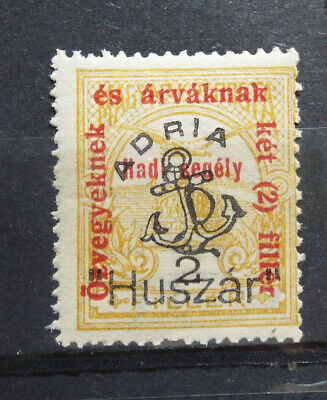 Local Hungary 1918-20 Fiume Overprint private Adria Ship Anchor MNH
