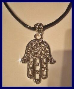 Hand der Fatima HAMSA Halskette mit Anhänger NEU (E373)
