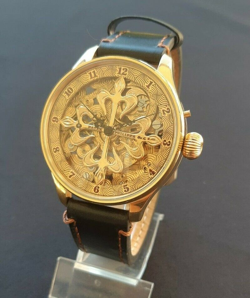 Luxury Patek Philippe Mens Wristwatch based on Vintage Movement - watch picture 1