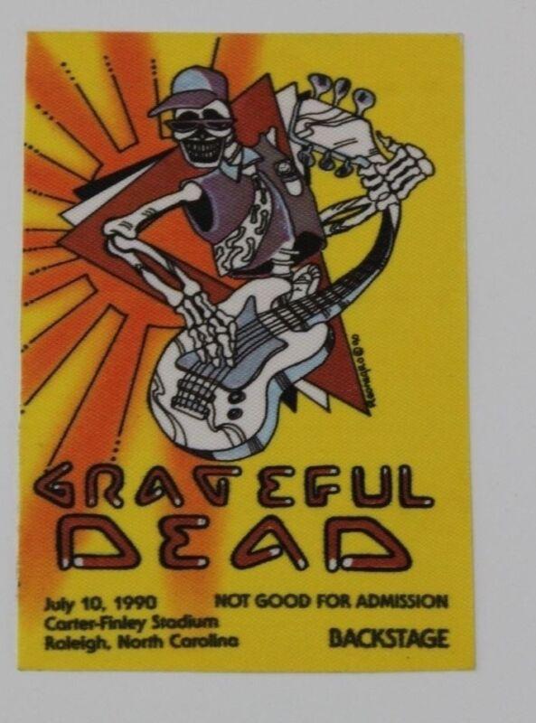 Grateful Dead Backstage Pass 7-10-90 CarterFinley Stadium Raleigh North Carolina