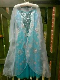 Disney Store Elsa dress - frozen 9/10yrs