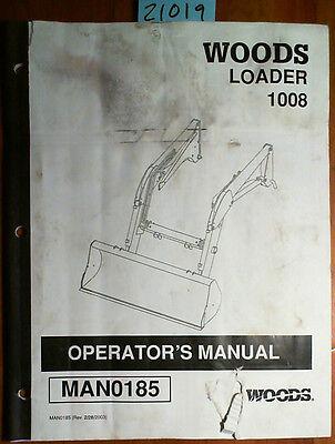 Woods 1008 Loader Owners Operators Manual Man0185 203