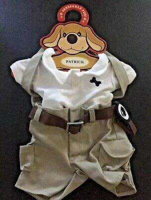 """Patrick the Pup Dress Up Explorer Outfit """"NEW"""" 15"""" Doll Fao Schwarz"""