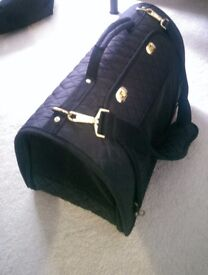 Black Quilted Pet Carrier ideal for cat or small dog