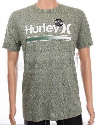 Hurley Men's Soft Tri-Blend Light Heather Green Premium Fit T-Shirt