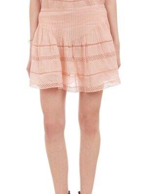 NWT $605 Isabel Marant Orka RUNWAY Pointelle Ramie Mini Skirt SZ 38 Light Pink