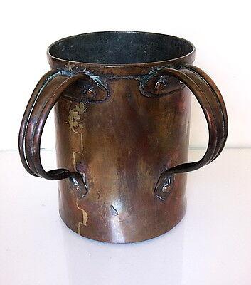 Unusual Antique dovetailed Ukranian or Polish Hand Washing  Natilat Yodaim cup