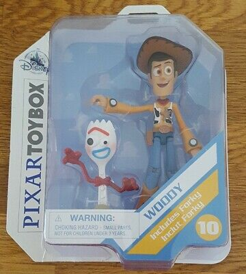NEW SEALED Disney Pixar's Toybox #10 Woody & Forky action figures - TOY STORY 4