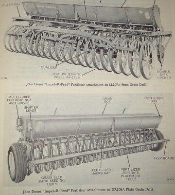 John Deere Impel-r-feed Grain Drill Fertilizer Attachment Parts Catalog Manual