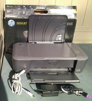 HP DeskJet 1000 J110A Home Office Inkjet Printer w ink, USB cable & power supply