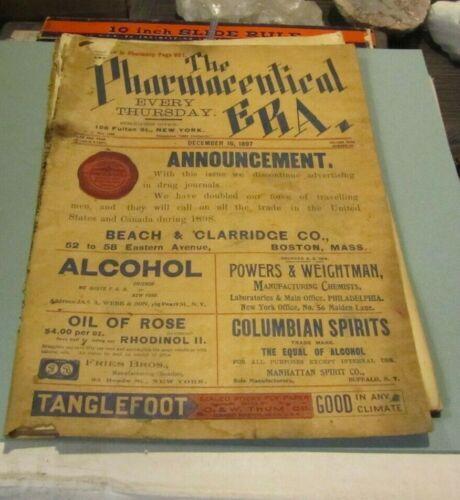 December 16 1897 The Pharmaceutical Era Medical Advertising Magazine Drug Prices