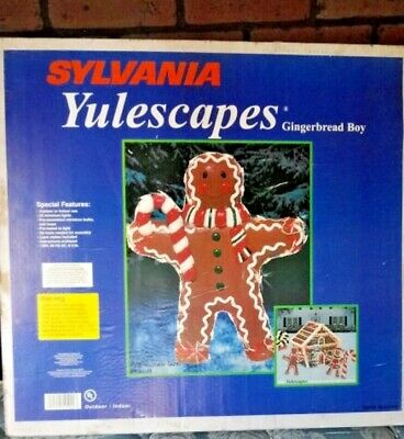 VTG. Sylvania YULESCAPES Gingerbread BOY XMAS DISPLAY Decoration Outdoor Lighted