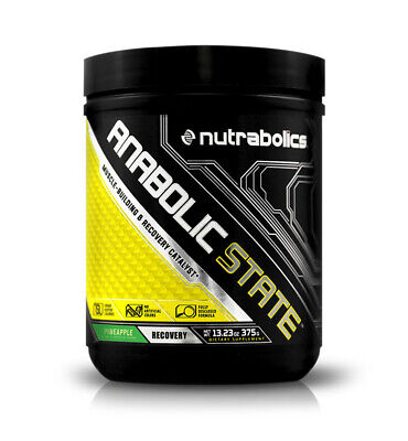 Nutrabolics Anabolic State Pineapple (30 Srv) Muscle Building (Best by (Best Muscle Building Powder)