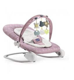 Nearly new pink baby hoopla bouncer