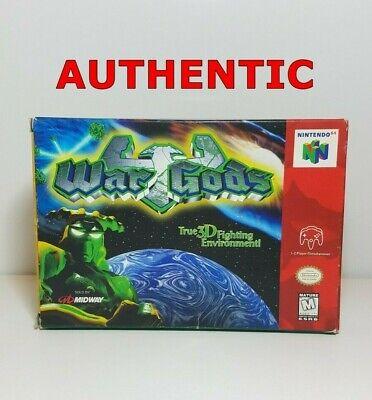 War Gods (Nintendo 64 N64 1997) Complete in Box CIB Manual Game Box