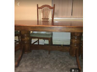 Beautiful wooden table with 6 chairs