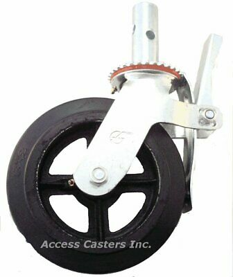 8uc8rb 8 Scaffold Swivel Caster Total Lock Brake Rubber On Steel Wheel