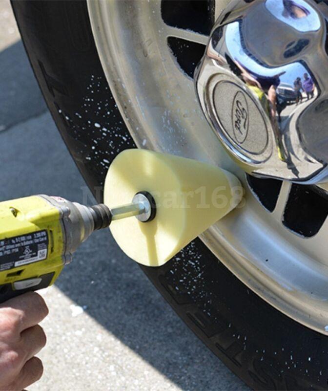 Wheel Polish Polishing Power Cone Foam Buffer with Power drill attachment New