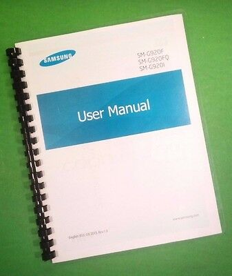 """Samsung Galaxy Phone S6 G920 Camera 140 Page Laser 8.5X11"""" Owners Manual Guide"""