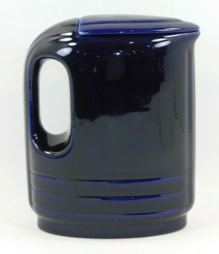 Vintage Cobalt Blue Pitcher with Lid - Westinghouse? Great Shape