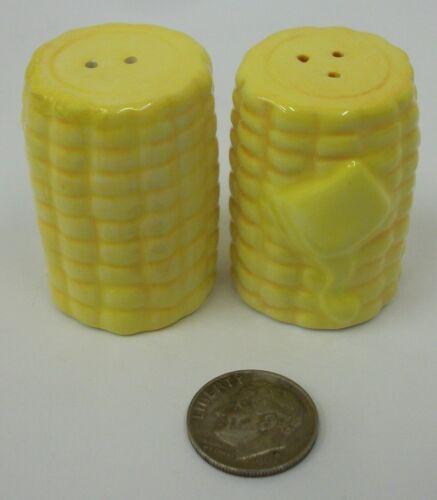 Mini Corn on the Cob Salt and Pepper Shaker Set EUC