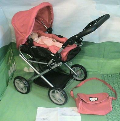 New York Doll Collection Lovely Stroller, Pram, Carriage for 15 inch Baby Dolls - Love New York Baby Doll