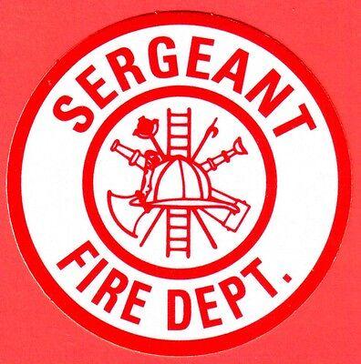 Firefighter Decalsticker Round Sergeant Fire Dept