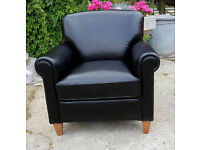 Brand new Heart of House Kingsley Leather Club Chair - Black