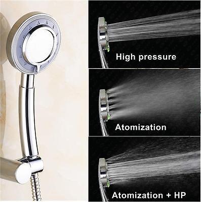 Best High Pressure Shower Head Handheld Chrome Powerful Boosting 3-Mode