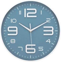 No Ticking Wall Clock Silent Accurate Quartz Sweep Movement Modern Clock 1 Pack