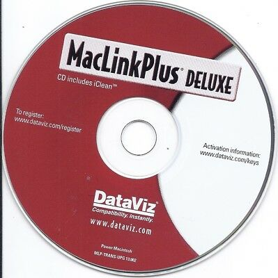 MacLink Mac Link Plus Deluxe PC CD w/serial# share document open non-mac OS file