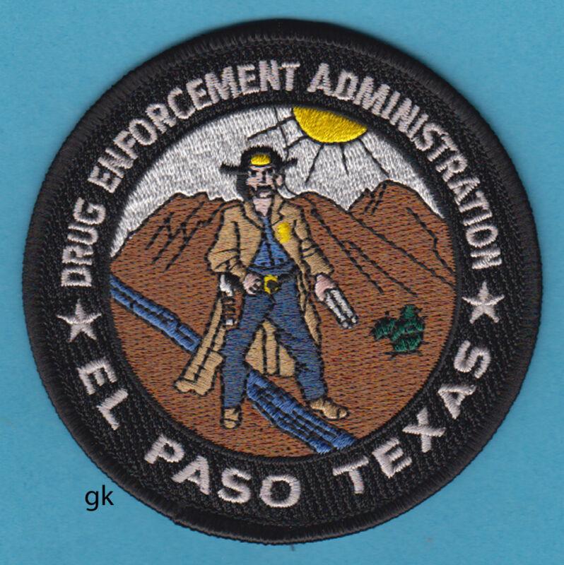 DEA DRUG ENFORCEMENT ADMINISTRATION  EL PASO TEXAS  SHOULDER PATCH