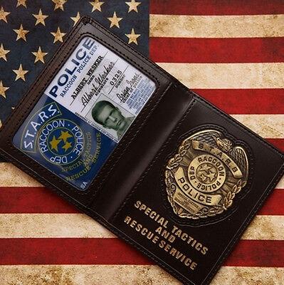Resident Evil Stars Wesker Police Badge With ID Wallet Holder Case-US155