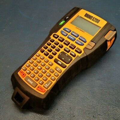 Dymo Rhino 5200 Handheld Thermal Printer Label Maker Tested Working.