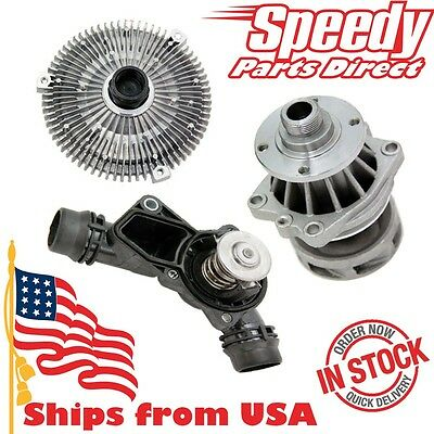 Premium Fan clutch & Water pump & thermostat assembly kit for BMW E39 E46 X5