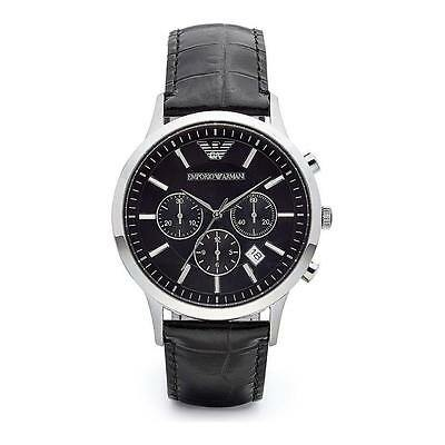 NEW EMPORIO ARMANI AR2447 MENS STEEL CHRONOGRAPH WATCH - 2 YEARS WARRANTY