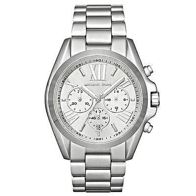 Michael Kors MK5535 Silver Tone Bradshaw Chronograph Wrist Watch