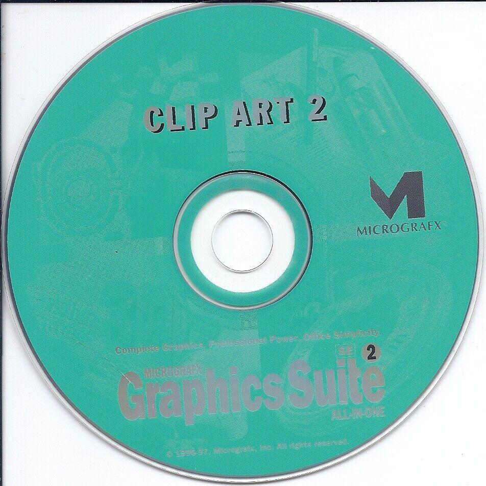Vintage Software CD - Graphics Suite Clip Art 2 - Micrografx - $2.99