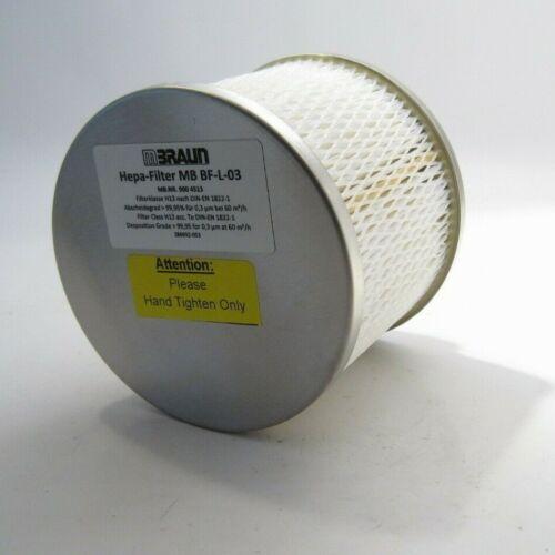 MBRAUN MB BF-L-03 Hepa-Filter (900 4513) - Prepaid Shipping