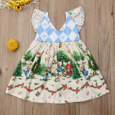 NEW Alice In Wonderland Girls Sleeveless Dress 2T 3T 4T 5T
