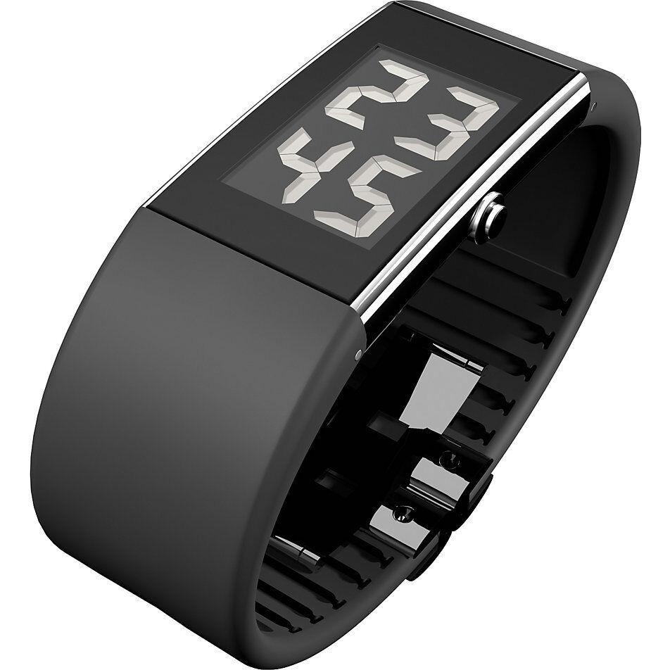 ROSENDAHL Herren Armbanduhr Edelstahl Silber Schwarz Digital Watch II 43103