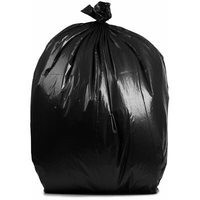 PlasticMill 50-60 Gallon, Black, 1.2 Mil, 38x58, 100 Bags/Case, Garbage Bags.