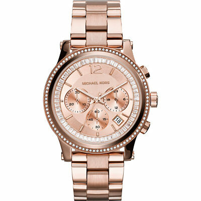 Michael Kors MK 6064 Women's Heidi Rose Gold-Tone Watch