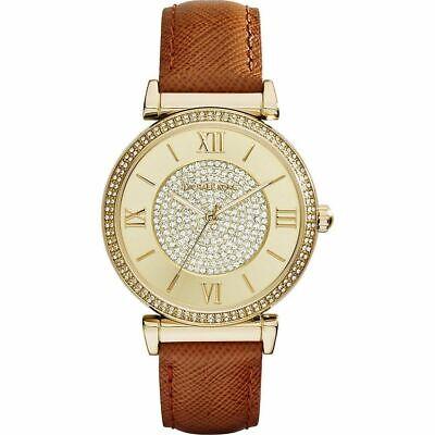 Michael Kors MK2375 Catlin Gold Leather Wrist Watch for Women